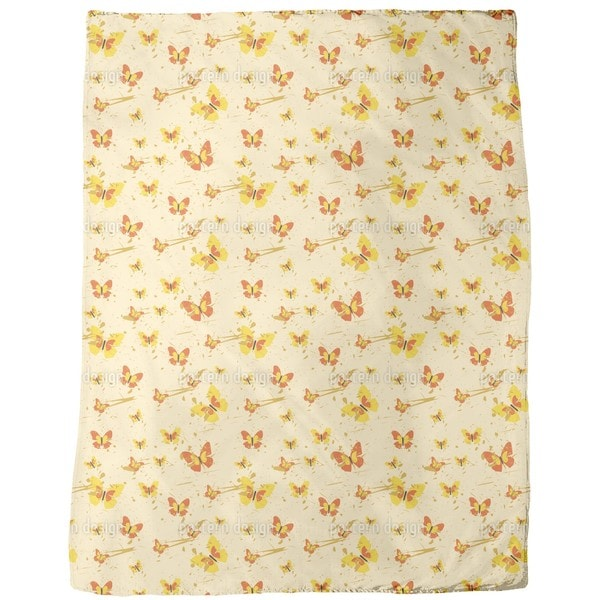 Action Painting Butterfly Fleece Blanket