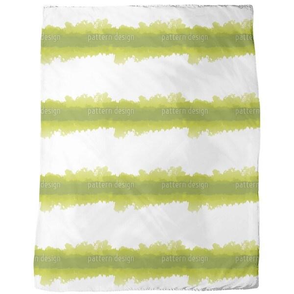 Batik in Green Fleece Blanket
