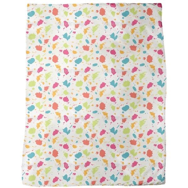 Colorful Blots Fleece Blanket