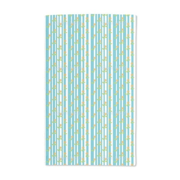 Stripes and Flowers Hand Towel (Set of 2)