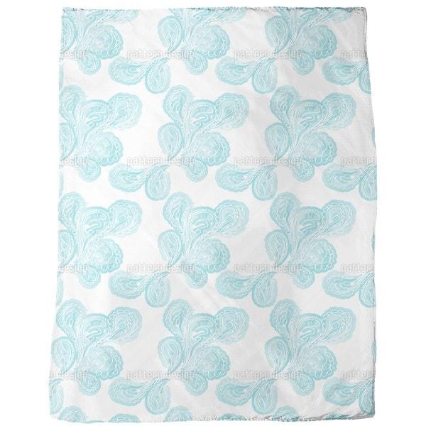 Aqua Paisley Fleece Blanket