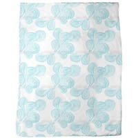 Aqua Paisley Fleece Blanket