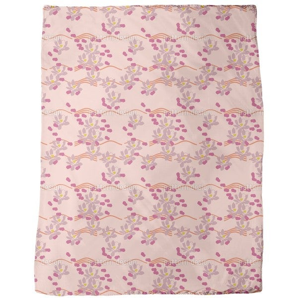 Lotus Love Pink Fleece Blanket