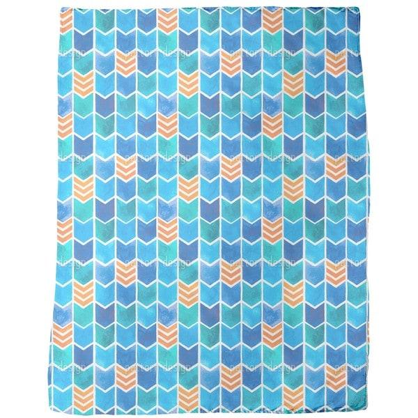 Water Color Zigzag Fleece Blanket