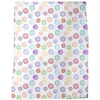 Watercolors Dot Com Fleece Blanket