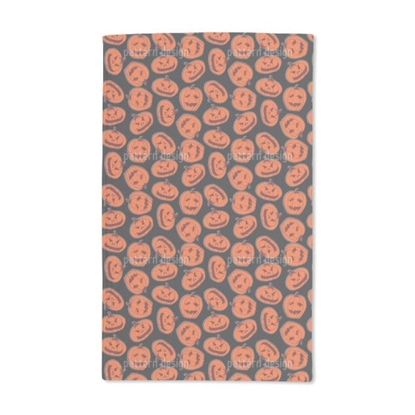 Pumpkin Heads Black Hand Towel (Set of 2)