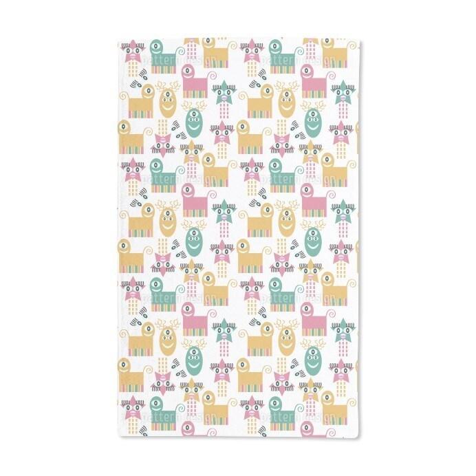 Uneekee Crazy Monsters Hand Towel (Set of 2) (Crazy Monst...