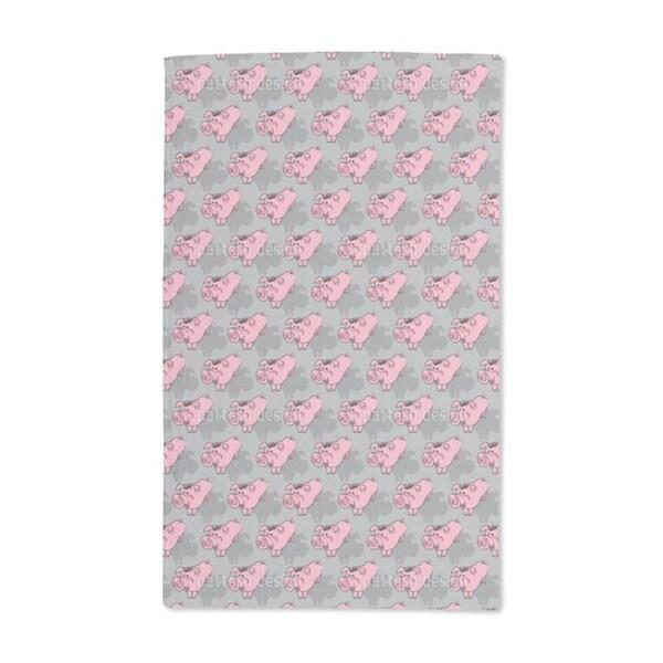 Piggies Grey Hand Towel (Set of 2)