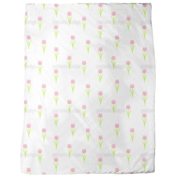Tulip Solitaire Fleece Blanket