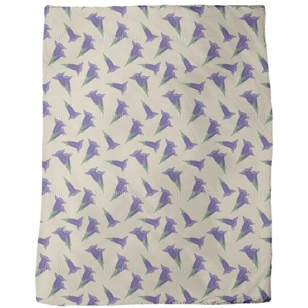 Gentian Beige Fleece Blanket