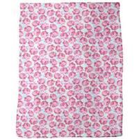 Lovely Rose Fleece Blanket