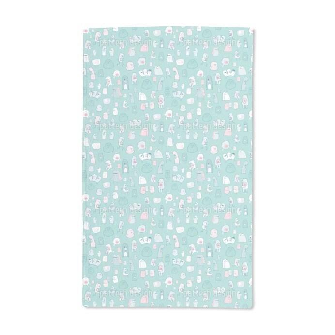 Uneekee Little Monsters Need Love Too Hand Towel (Set of ...