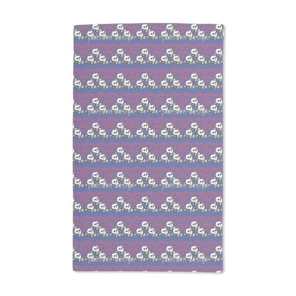 Skully Blue Hand Towel (Set of 2)