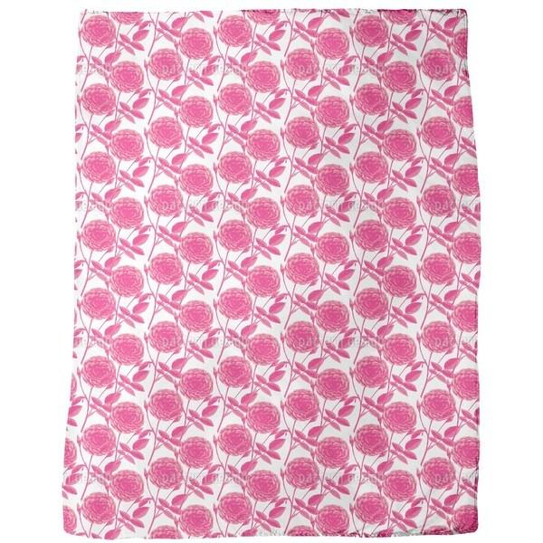 Roses in Full Bloom Fleece Blanket