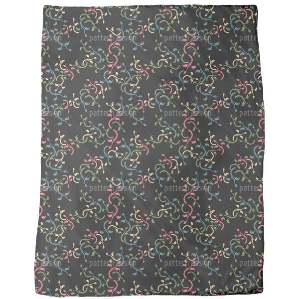Flower Choral Fleece Blanket