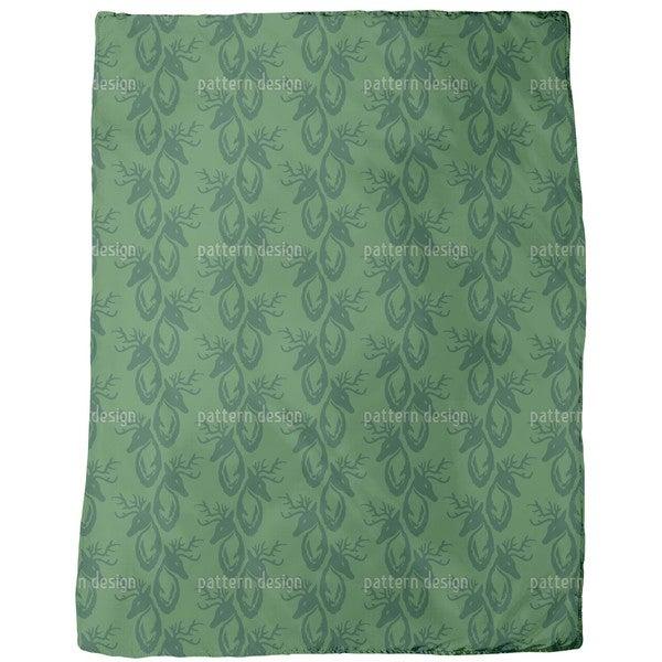 Green Stag Fleece Blanket