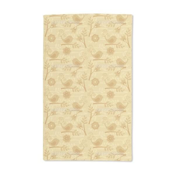 Golden Birdsong Hand Towel (Set of 2)