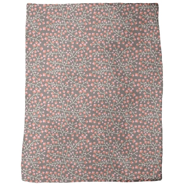 Nordic Floral Fleece Blanket