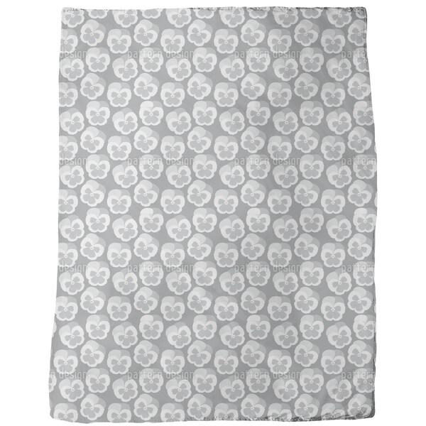 Violetta Grey Fleece Blanket