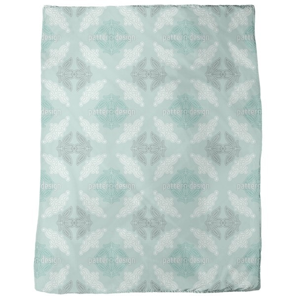Grandmas Doily Fleece Blanket