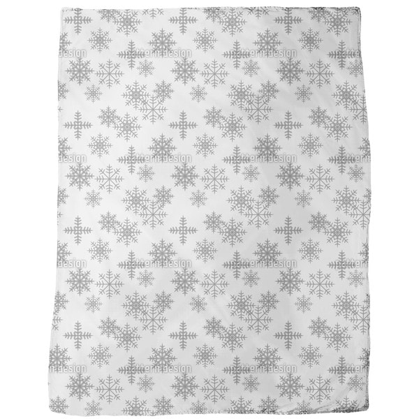 Crystals White Fleece Blanket