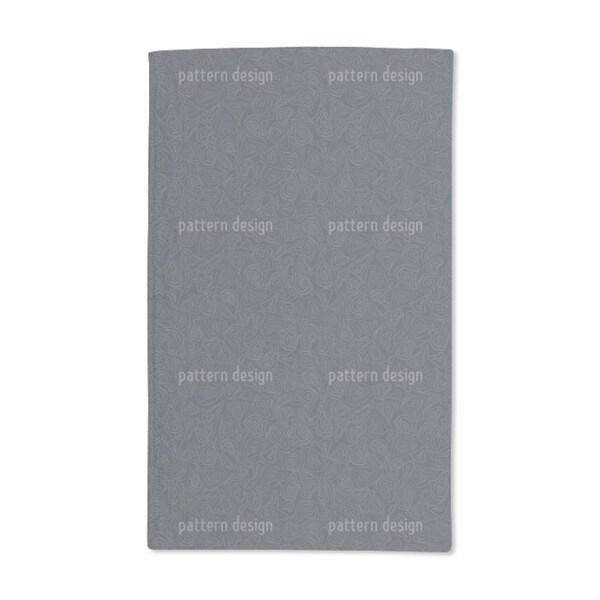 Batik Stones Smokey Blue Hand Towel (Set of 2)