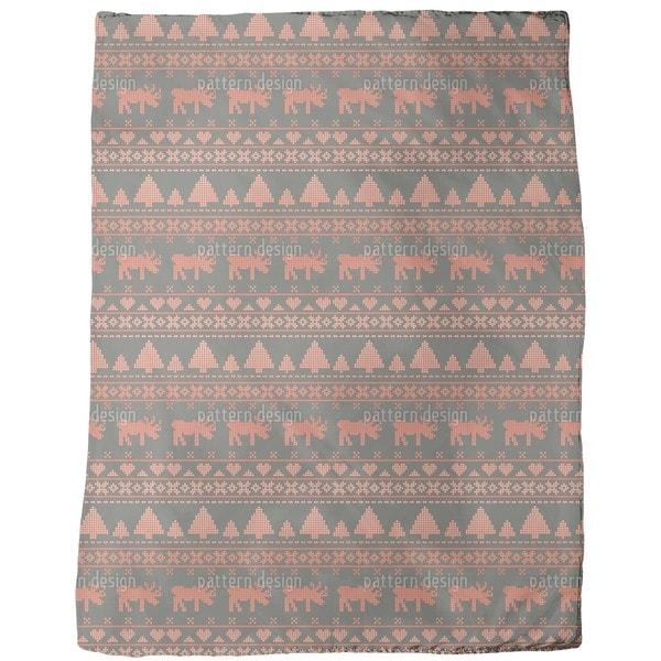 Norwegian Winter Fleece Blanket