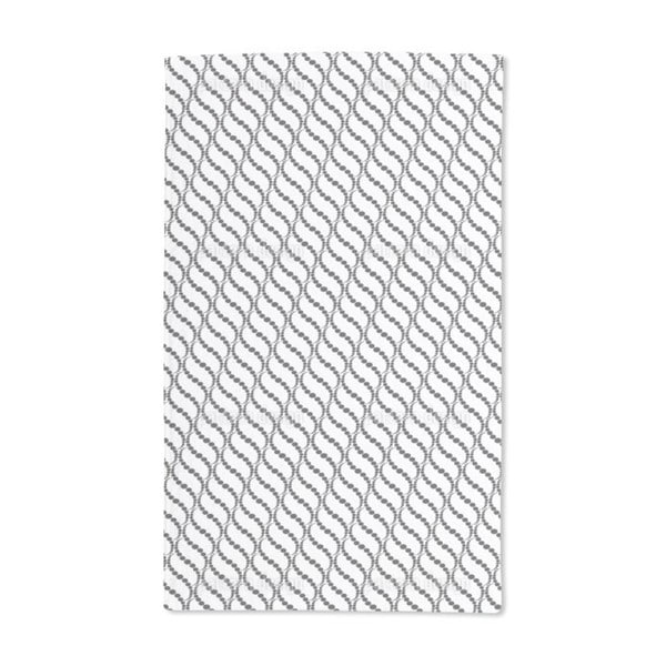 Wavy Dots on White Hand Towel (Set of 2)