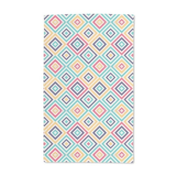 Geometry to the Square Hand Towel (Set of 2)