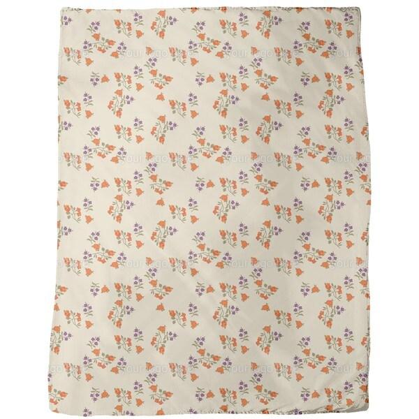 Mille Fleurs on Beige Fleece Blanket