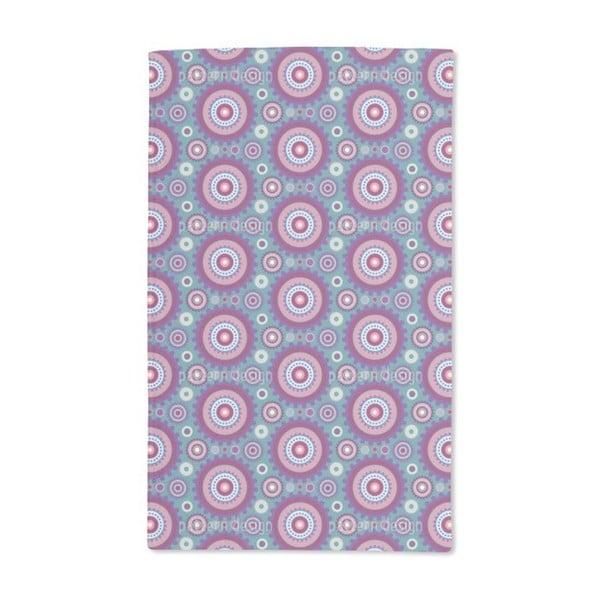 Floral Gear Circles Hand Towel (Set of 2)
