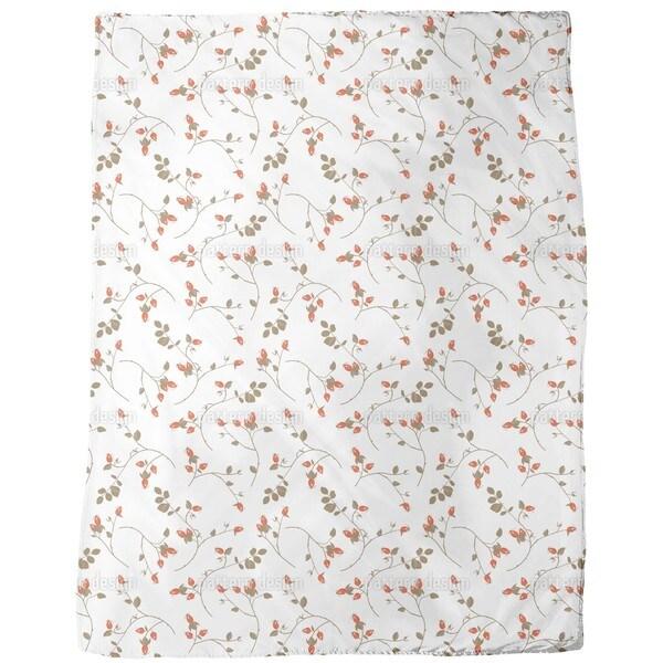 Rosehips Fleece Blanket