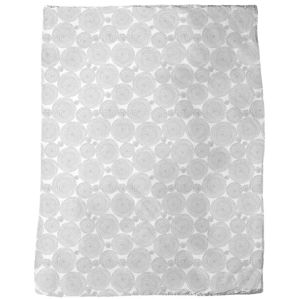 Lines and Circles Fleece Blanket