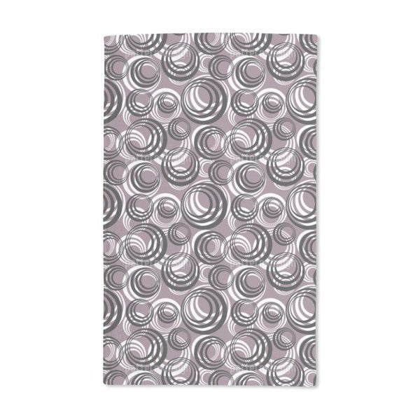 Retro Circles Hand Towel (Set of 2)