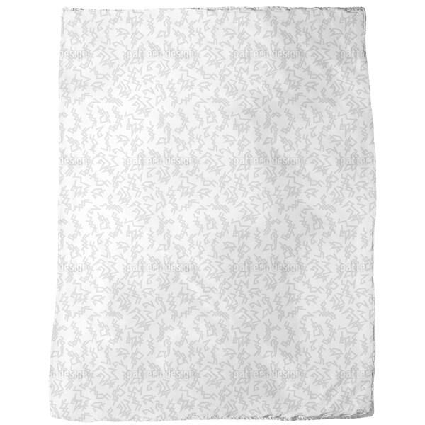 Trigger White Fleece Blanket