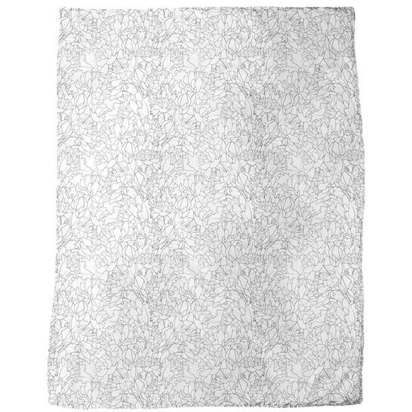 Endless Peony Fleece Blanket