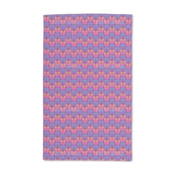 Geometric Tulips Hand Towel (Set of 2)