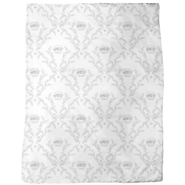 Petit Panier Gris Fleece Blanket