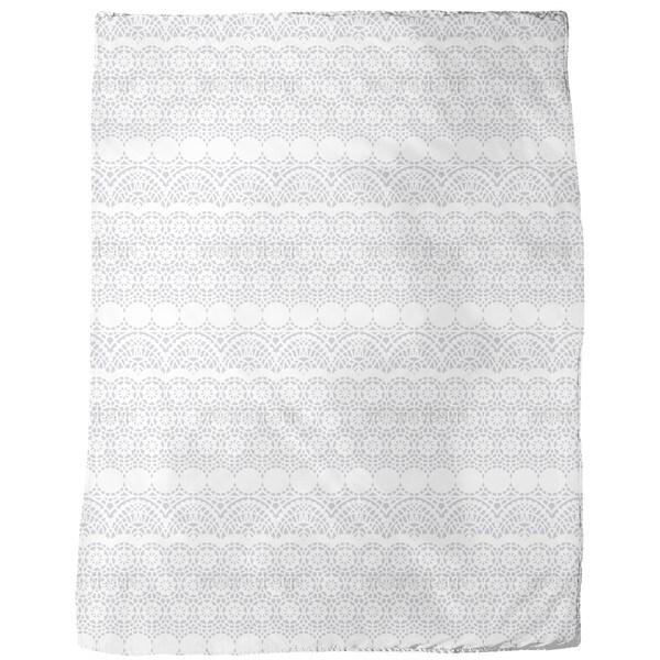 Alhambra White Fleece Blanket