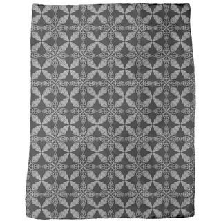 Moroccan Black Fleece Blanket
