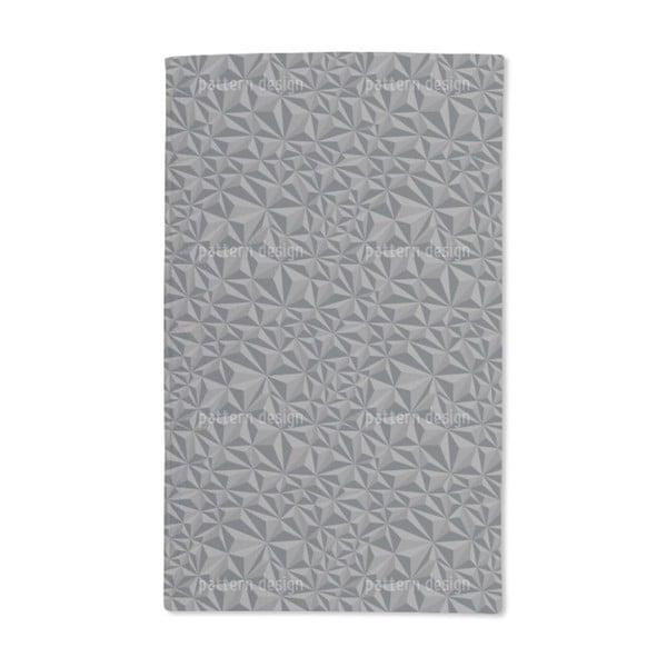 Paper Geometry Dark Grey Hand Towel (Set of 2)