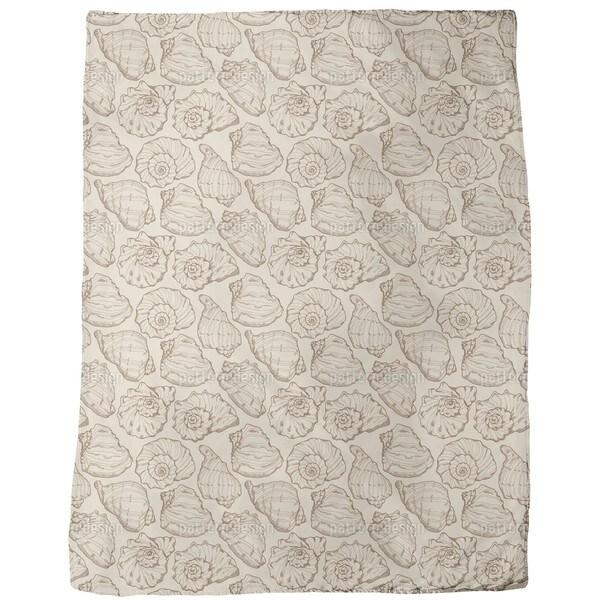 Seashells Sand Fleece Blanket