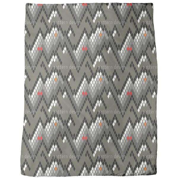 Checkered Mountain High Fleece Blanket