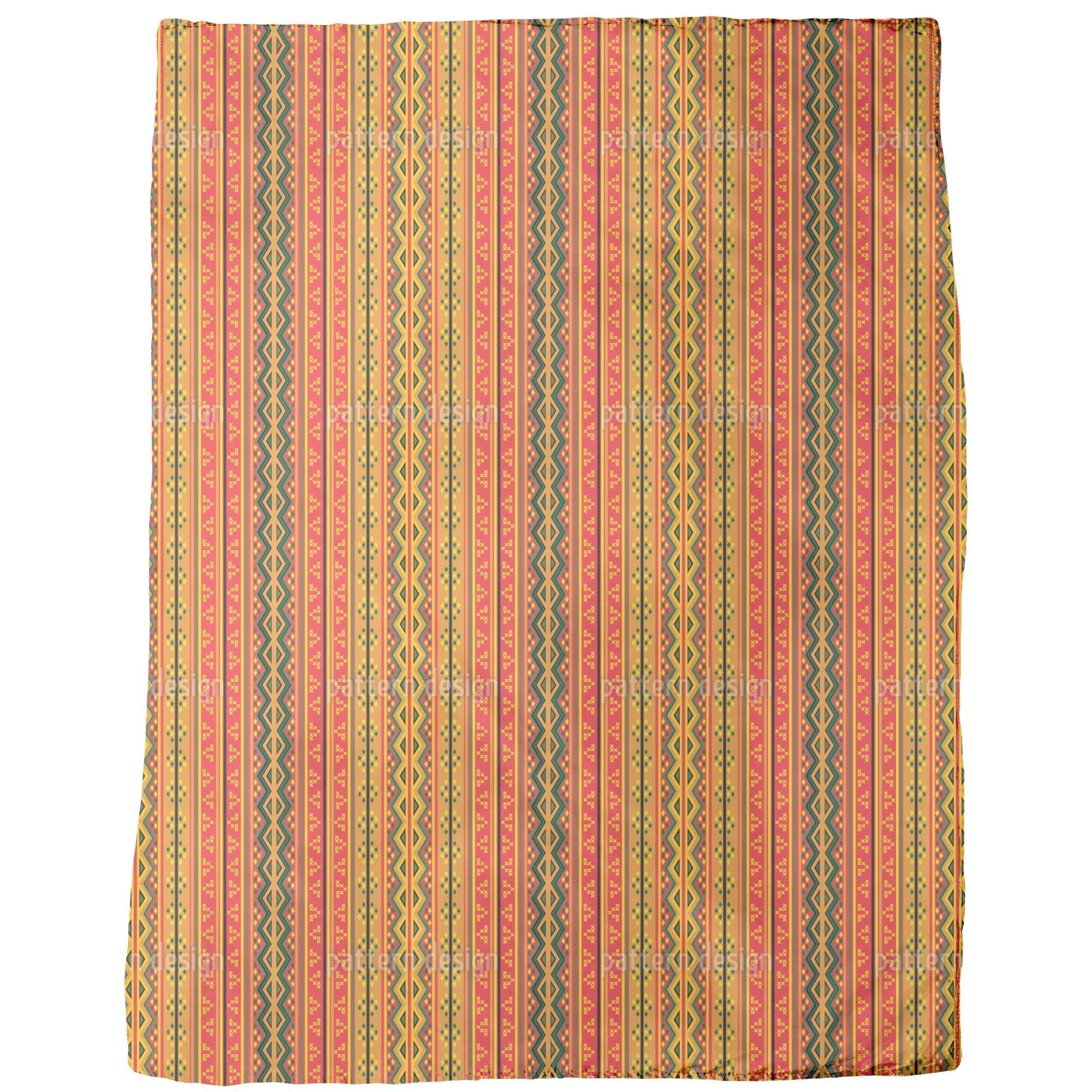 Uneekee Poncho is Wandering on Stripes Fleece Blanket (Me...
