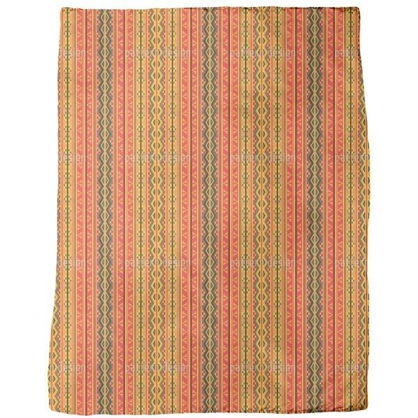 Poncho is Wandering on Stripes Fleece Blanket