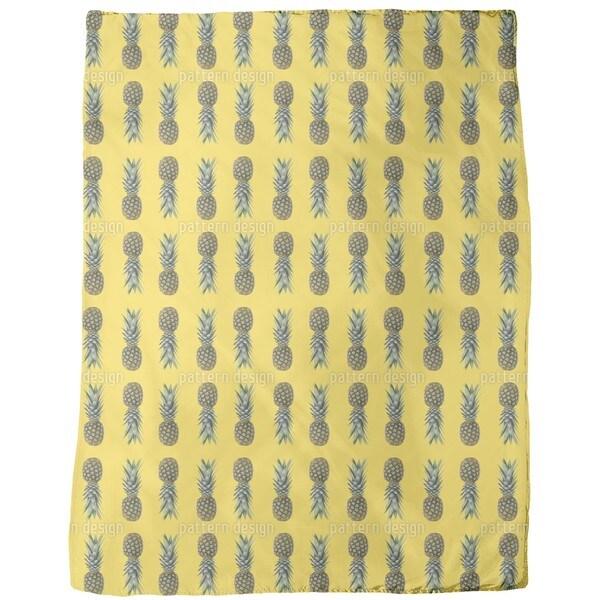 Pineapples From Brazil Fleece Blanket