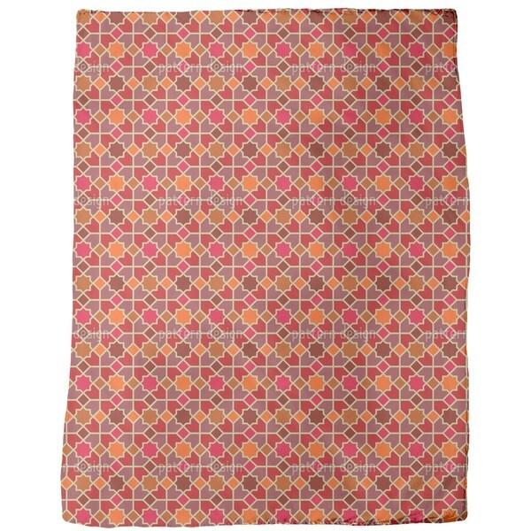 Morocco Red Fleece Blanket