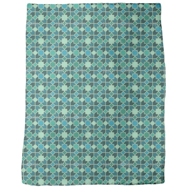 Morocco Teal Fleece Blanket