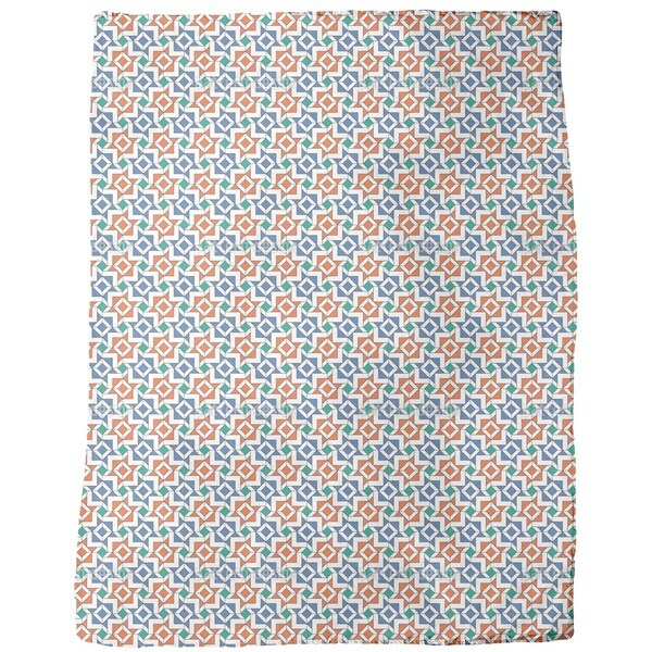 Geometric Alhambra Fleece Blanket