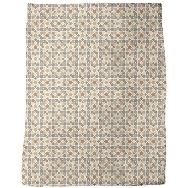 Morocco Brown Fleece Blanket